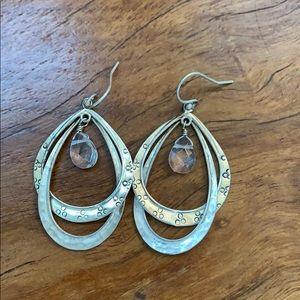 Silpada silver and crystal earrings